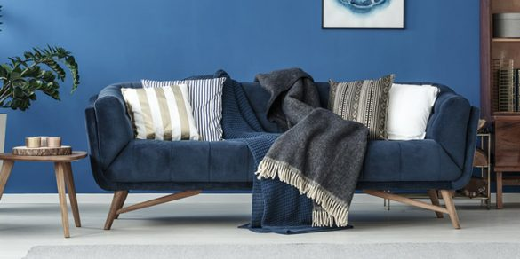Cleaning a velour sofa step by step.