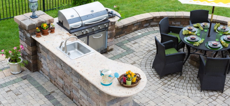 Cost of building an outdoor kitchen in Australia.