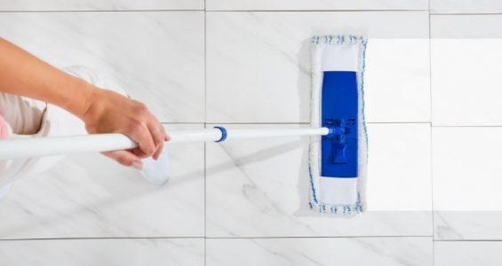 A guide on cleaning tile floors with vinegar.