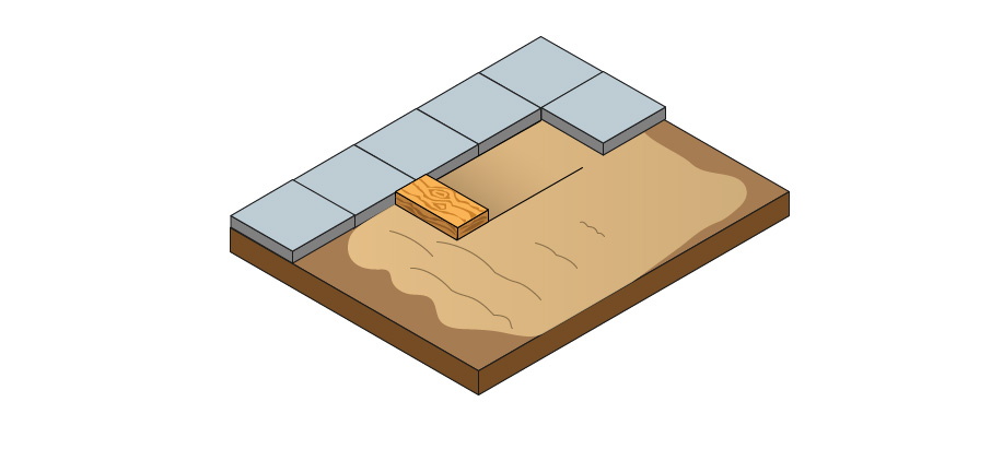 Add all purpose sand and level it with a screeding board
