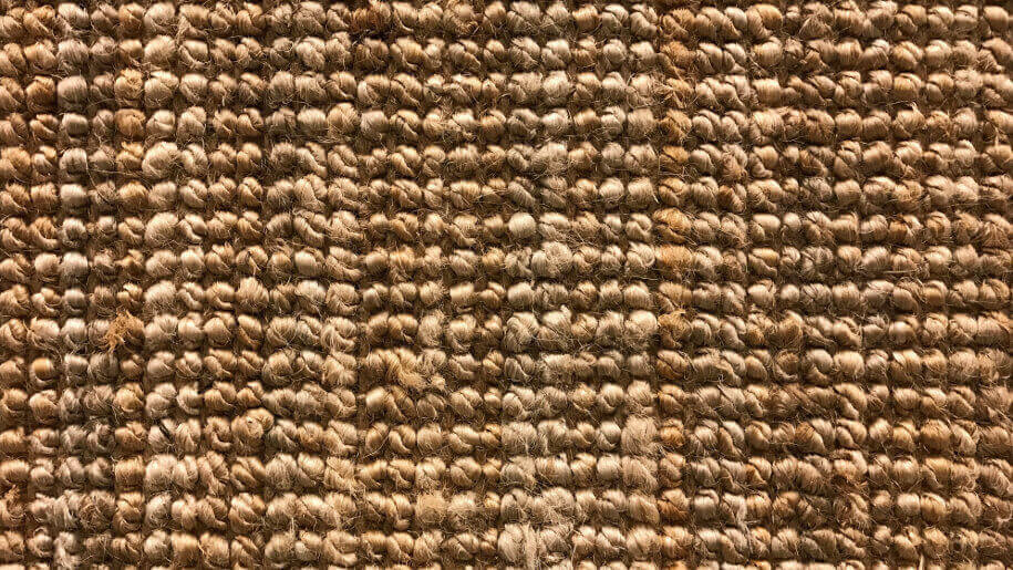 Cleaning a sisal rug at home