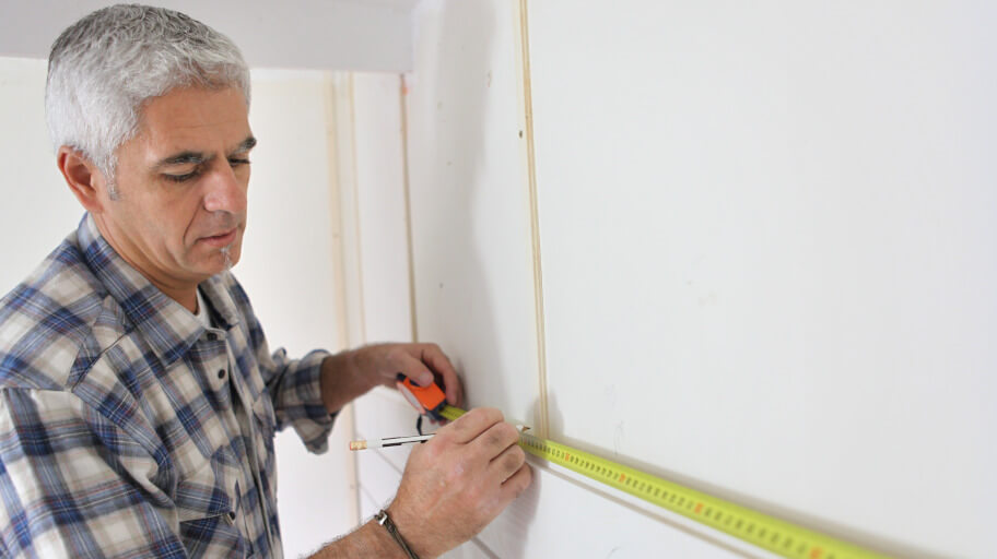 measure and prepare space when installing cabinets