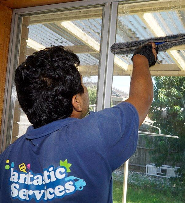 Fantastic cleaner cleaning windows