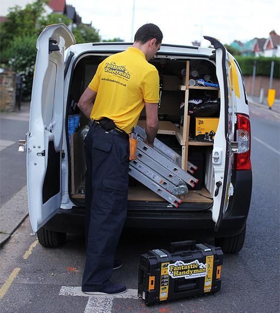 Van full of handyman equipment