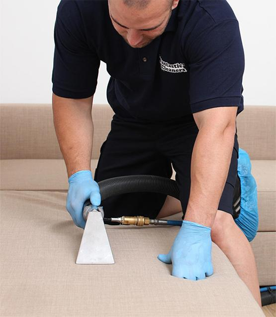 Fantastic pro cleaning a sofa